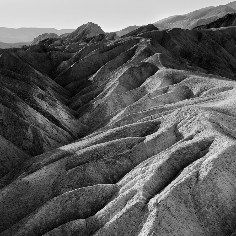 Zabriskie Point 1, parc national de la Vallée de la Mort, Californie, USA. 2016