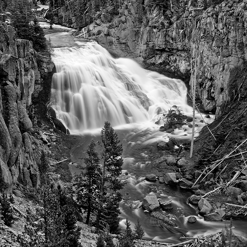 Gibbon Falls, parc national du Yellowstone, Wyoming, USA. 2017