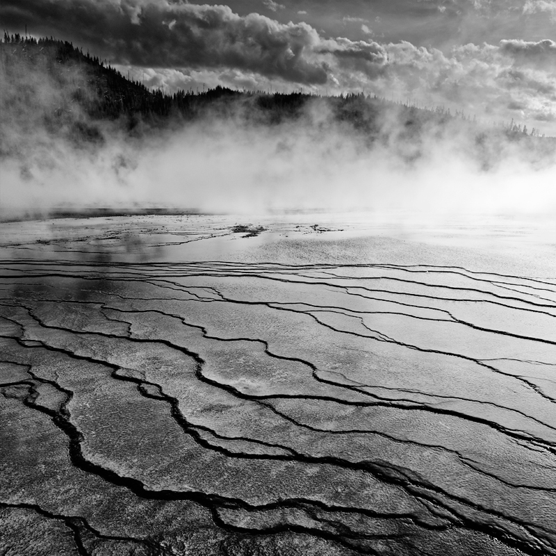 Grand Prismatic Spring, parc national du Yellowstone, Wyoming, USA. 2017