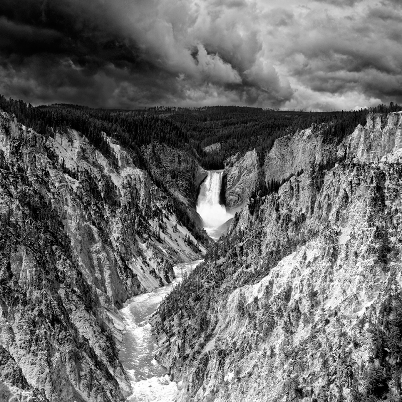 Lower Falls, parc national du Yellowstone, Wyoming, USA. 2017
